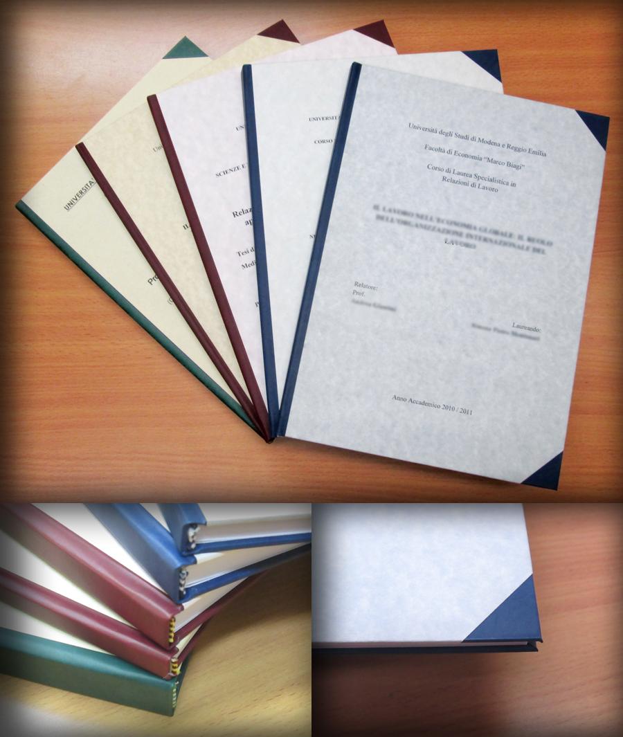 Preferenza Commercial Service » Rilegatura tesi di laurea RR58